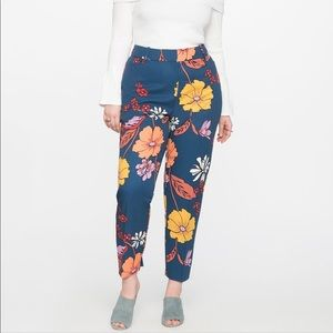 Kady Fit Printed Crepe Pant Fresh Bouquet Size 16